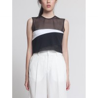 V By Silvy Racoon Crop Top Black