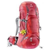 Deuter Tas Carrier Outdoor FUTURA VARIO 45+10 SL Cranberry Fire Original