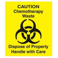 [holiczone] RCPCD1 - Rubbermaid Medical Decal, ampquotchemotherapy Wasteampquot, 6 X 6, Ye/1391354