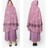 Gamis busui FOR TWO DRESS JERSEY PURPLE DUSTy