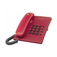 Panasonic Single Line Telepon KX-TS505 MX Telephone - Merah