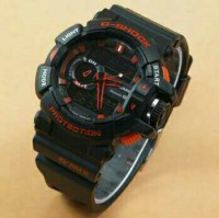 Jam Tangan Pria G-Shock GBA400 Dualtime Black Red(fossil/rolex/guess/swiss army)
