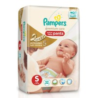 PAMPERS Premium Care Active Baby Pants - S 32