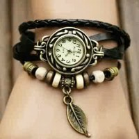 Braid Leather Watch (Jam Tangan Kulit Kepang - Lilit - Vintage - Tribal - Indian)