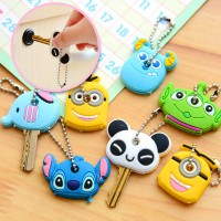 Cartoon Soft Rubber Cover Key Chain