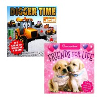 [HelloPandaBooks]Friends for Life/My First JCB Digger Time -with touch & feel texture on front cover