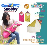 Snobby Baby Blanket Topi Soft Color Marbles