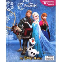 [HelloPandaBooks] My Busy Book Disney Frozen includes a Storybook, 12 Disney Figurines and a Giant Playmat