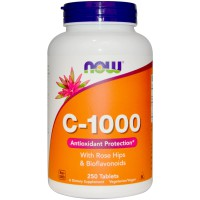 Now C-1000 with Rose Hips and Bioflavanoids - 250 Tablets