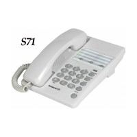 Sahitel Single Line Telephone S71 Telepon Kabel - Putih