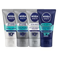 Nivea Men Facial Foam (Whitening/Oil Control/Acne Control/Extra white) All Variant 100ml
