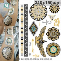 VT338/Eco-friendly New 2015 Metallic Temporary tattoos foil gold eagle coin designs tatto stickers