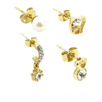 SOPHIE PARIS GEFANDA EARING SET GOLD-E0099G1