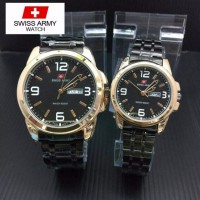 Swiss Army Jam Tangan Couple PS231- Gold