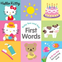 [HelloPandaBooks] Hello Kitty Baby See and Say First Words Lift-the-Flap First Learning Board Book