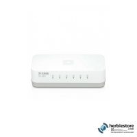 D-Link Switch 5 Port 10/100 Mbps, Auto Sensing - DES-1005A