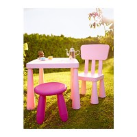 IKEA (R) - MAMMUT Children Pink Collections Furniture - 1 SET isi 3pcs - Outdoor and Indoor
