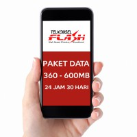 Telkomsel Flash 360MB-600MB 24jam HOT LIMITED Paket Data Internet.