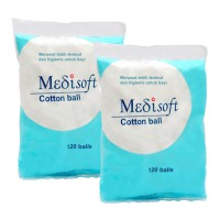 MURAH [Dapat 2 pack] Medisoft Cotton Ball 120pcs- Kapas Bulat/Bola