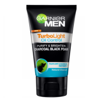 GARNIER MEN Turbo Oil Charcoal Foam 100ml