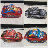 Tas ransel anak TK Cars,Avenger, Batman, Poli, Doraemon, Frozen, Little Pony on the road 3D
