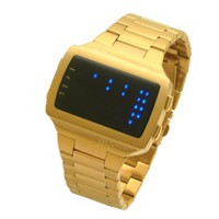 LED Watch - L69-063BL-BSM - Jam Tangan Pria - stainlles steel - gold