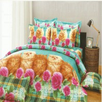 Kendra Premier Sprei 180x200 Motif Kitty Cat