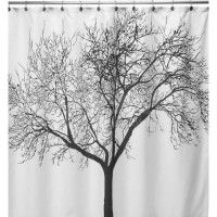 [globalbuy] New Shower Curtain Tree Pattern Creative Shower Curtain Bathroom Waterproof Po/3264559