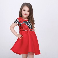 Dress Anak Mitun Printed Flower Red 2-8Y | PDR278
