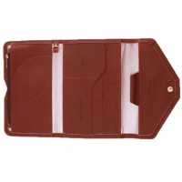 SMART Leather Travel Wallet and Organizer - Coklat