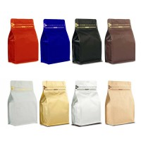Coffee Bag 250G Box Pouch with Zipper