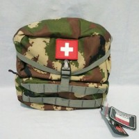 Nemplok Tas Medical Style Outdoor Army / Hijau Army