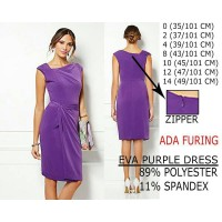 BRANDED DRESS / MIXX/ EVA - 89% POLYESTER 11% SPANDEX