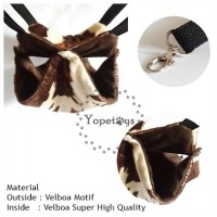 Yopetoys Double Sleeping Pouch Sugar Glider Coklat Sapi