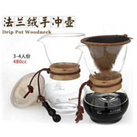 [globalbuy] 1pc Chemex style 1-4Cups 480cc woodneck flannel filter Classic Series Glass Co/2069555
