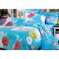 Jaxine Sprei Katun Morning Glory Ukuran Single (120 x 200 x 20 cm)