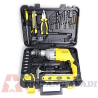 Stanley Mesin Bor Tembok Impact 13 mm + Tool Kit Set 40 Pcs - STDH7213V-B1