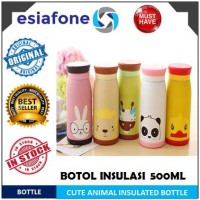 [esiafone top buy] Colourful Cute Animal Cartoon Thermos Insulated Milk Water Bottle 500ml / Thermos