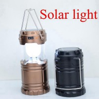 Lampu Led Emergency Tenaga Solar Light Lampu Camping 6 Led Solar Cell Dan Batre Isi Ulang