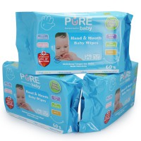 Paket Hemat Tissue Pure Baby Hand and Mouth Baby Aloevera 3 Pack - VAP013