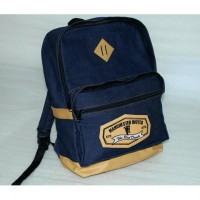 TAS MANCHESTER UNITED BAHAN DENIM RANSEL SLOT LAPTOP