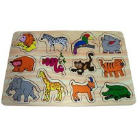 Puzzle Kayu Zoo Animals