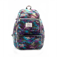 London Berry by HUER Yusca Backpack Medium - Army Midnight