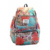 London Berry by HUER Yusca Backpack Medium - Flower Brown