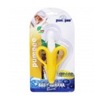 Pumpee Baby Banana Teether Brush Soft & Save BPA Free