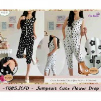 Jumpsuit Murah | Juaol Jumpsuit Wanita | TQ85JCFD -(HANYA WARNA PUTIH) Jumpsuit cute flower drop