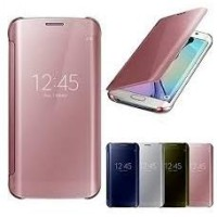 Samsung J7 Prime Clear View Flip Smart Cover Case Casing Miror