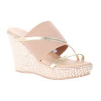 Hush Puppies Sandal Wedges Wanita Sienna Sling KC43304 Gold
