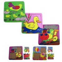 My First Puzzle : Chicken / Duck / Fish / Train - Mainan Kayu