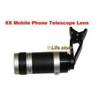 [globalbuy] Universal 8X Zoom Mobile Phone Telescope Lens Clip Lens For Alcatel Go Play,Al/2925686